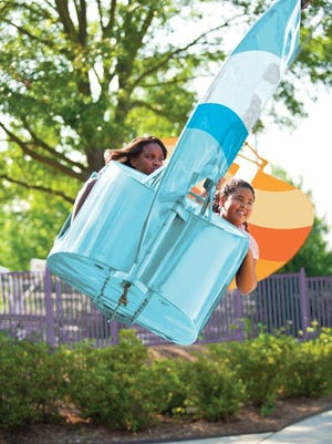 Lakeside Gliders is a family-friendly spinning ride at Michigan's Adventure in Muskegon this year.