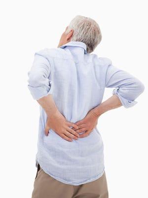 Stock photo of a man having back pain