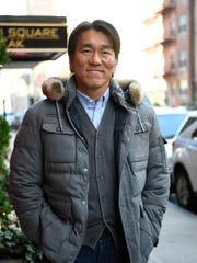 Former Yankee great Hideki Matsui outside of Cafe Luxembourg