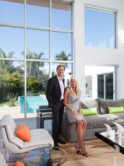 James and Tara Bates were used to taking historic homes in England and modernizing the inside, but in Naples they built a home that was super modern both inside and outside.