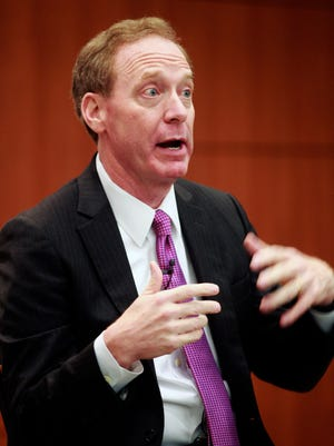 Microsoft President and Chief Legal Officer Brad Smith, a Wisconsin native, spoke about global competition when he visited Milwaukee last November.
