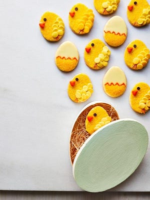 Make these Easter chick cookies.