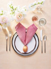 Get your table in the Easter spirit with this bunny place setting.