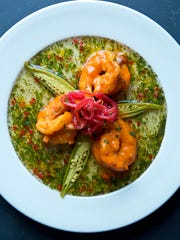 This shrimp and okra dish is served at Commander's