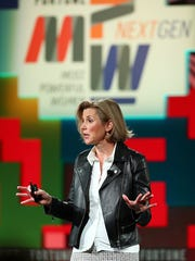 Sallie Krawcheck speaks onstage during the Fortune Most Powerful Women Next Gen on November 14, 2017. The former Smith Barney CEO has described how her Salmon Brothers colleagues used to place male genitalia on her desk every day in the late 1980s.