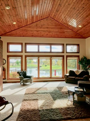 This Gaston home, listed for $540,000, rests near 35 acres of water. Not only does the home have a wide view of the lake, but it also touts 4,054 square feet of space, three bedrooms, 3.5 bathrooms and a custom-designed kitchen.