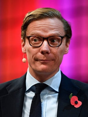 Cambridge Analytica's chief executive officer Alexander Nix gives an interview during the 2017 Web Summit in Lisbon on Nov. 9, 2017.
