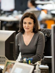 Facebook COO Sheryl Sandberg is photographed at her