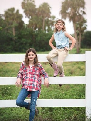 Sister Angelina Hively, 10, and Bella Hively, 7.