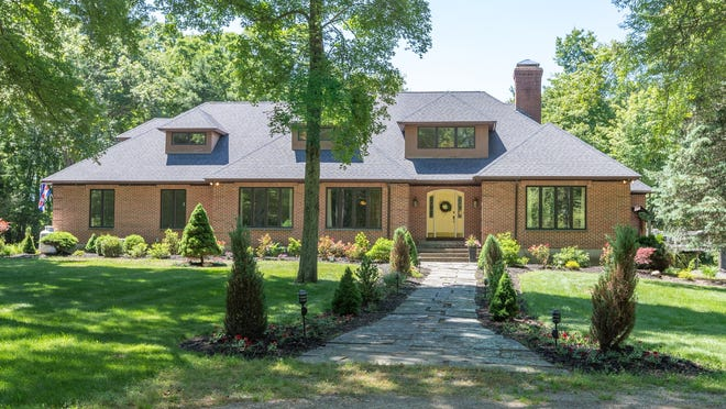 This 6,152-square-foot contemporary at 102 North Ave. in Mendon is listed for $1.2 million.