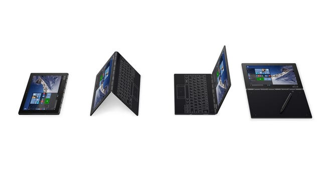 Yoga Book can fold into numerous shapes