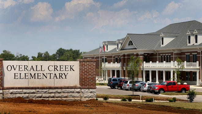Overall Creek Elementary in western Murfreesboro is the most recent addition to the Murfreesboro school system. Cars start filling the parking lot of Overall Creek Elementary for an open house on Sunday August 3, 2014.