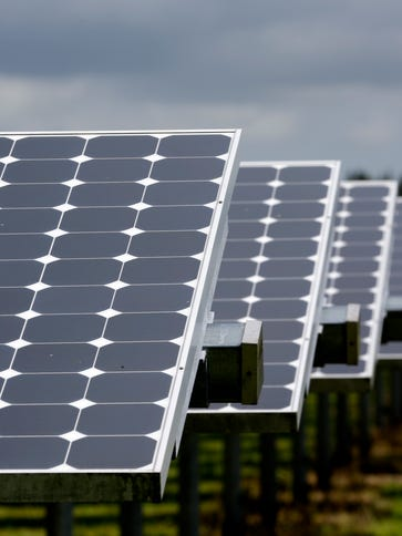 More than 37,000 solar panels gather sunlight at the