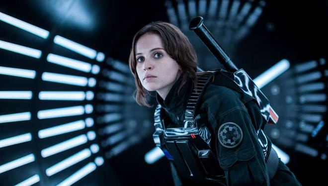 """Felicity Jones stars in """"Rogue One: A Star Wars Story,"""" in theaters on Dec. 16."""
