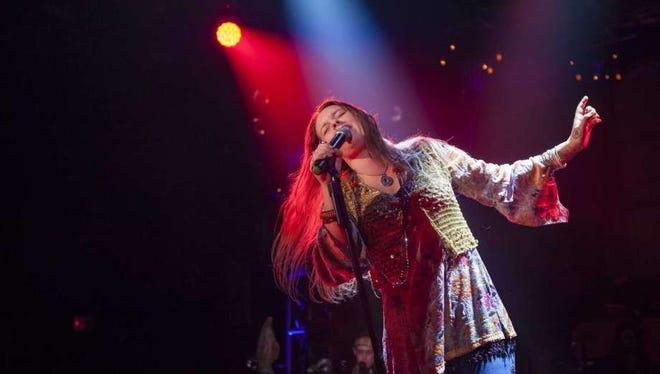 "Kelly McIntyre portrays Janis Joplin in ""A Night With Janis Joplin,"" coming Friday to Fantasy Springs Resort Casino"