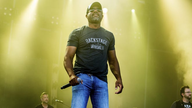 Darius Rucker performs at the Faster Horses Music Festival in the Brooklyn Trails Campground at Michigan International Speedway in 2017.