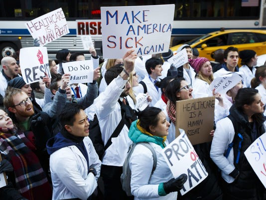 Medical Students Protest Proposed Repeal of the ACA