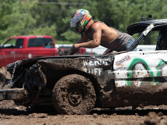 The Demolition Derby is always a big hit at the Fall