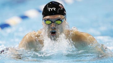 Cody Miller during the men's 100m breaststroke heats in the U.S. Olympic swimming team trials at CenturyLink Center. (Photo: Erich Schlegel-USA TODAY Sports)