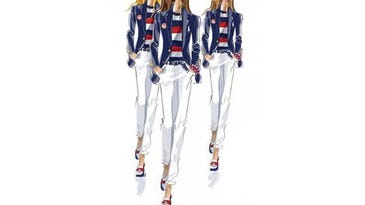 A look at the Ralph Lauren women's uniforms for the Rio Olympics Opening Ceremony. (Photo: Ralph Lauren)