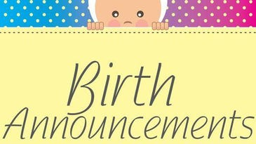Vermont birth announcements published week of Oct. 15