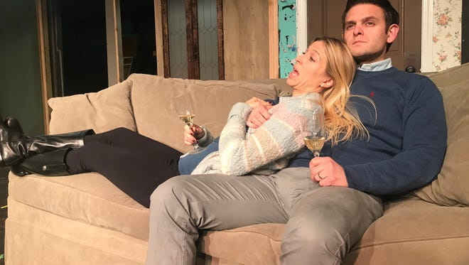 "Karen and Gabe (played by real-life spouses Sky Spiegel Monroe and Dale Monroe) are a married couple whose happiness is called into question by a friend's infidelity in ""Dinner with Friends.""  The Pulitzer-winning play opens tonight at Dover Little Theatre."