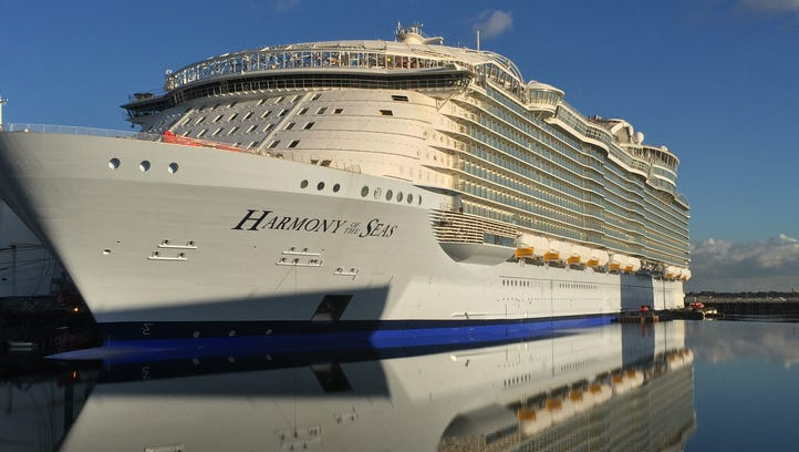 Harmony is a larger version of Royal Caribbean's Oasis of the Seas and Allure of the Seas, the current size leaders in the cruise world. It is, notably, significantly wider than the earlier ships, by almost 19 feet, and a tad longer, too.