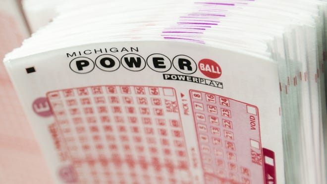 Slips for the Michigan Powerball.