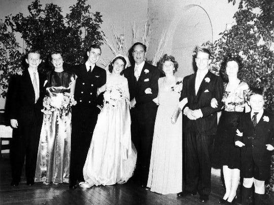 The Prescott Bush family at the Rye, N.Y. wedding of