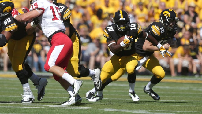 Freshman running back Jonathan Parker has shown flashes of brilliance in the early going for the Iowa offense. But he fumbled twice against Ball State, which the Cardinals turned into 10 points. Despite the mixed results, coach Kirk Ferentz plans to keep Parker part of the gameplan.