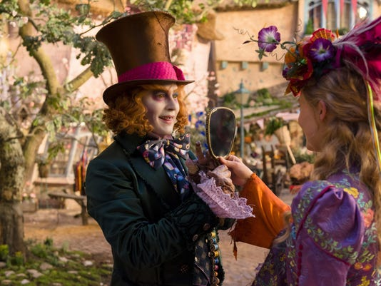 "Alice (Mia Wasikowska) returns to the whimsical world of Underland and travels back in time to save the Mad Hatter (Johnny Depp) in Disney's ""Alice Through The Looking Glass."""