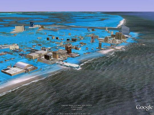 storm surge in Atlantic City
