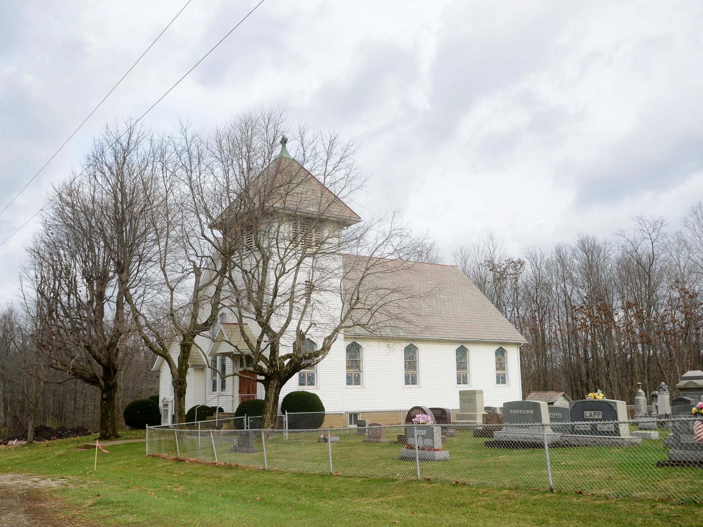 Zion Lutheran Church was built in 1912 on Ferncliff Road north of Adamsville. It was the third church on the site.