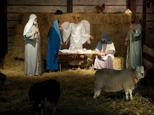 More than 200 cast members help produce the outdoor living nativity at Indian River Presbyterian Church in Fort Pierce.