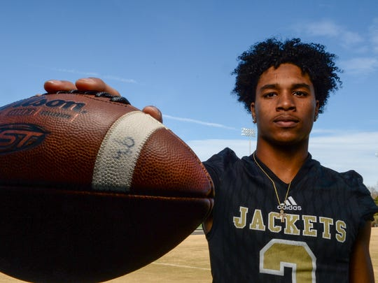 T.L. Hanna senior Braylon Peterson is the Independent Mail Player of the Year for football.