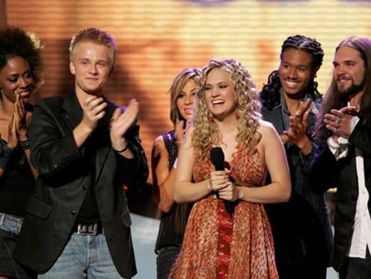 Carrie Underwood on American Idol.