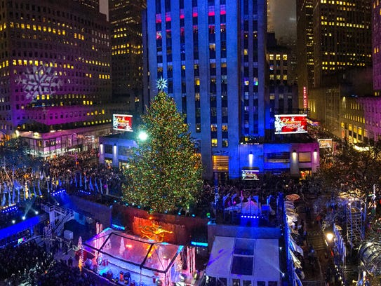 General view of atmosphere during the Rockefeller Center
