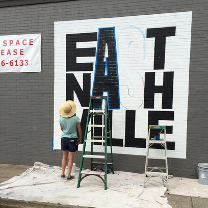 Artist Tinsley Dempsey is painting the East Nashville
