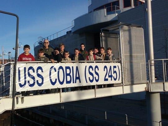 Boy Scout Troop 580 of West Allis spent the night aboard