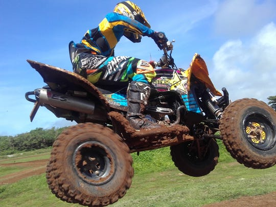 Yamaha mounted #8 Mike Taimanglo came in third in the Open ATV division.