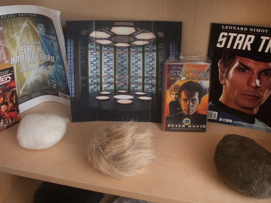 Bob Vosseller's Star Trek collection items are shown at his home in Lindenwold. Star Trek is celebrating its 50th year with a large trekker convention in Cherry Hill at the end of the month.
