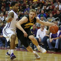 Mike Gesell led Iowa with just 10 points Saturday in the Hawkeyes' loss against Northern Iowa. Iowa's offense has had struggles from the field this season.