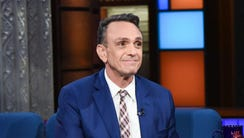 Hank Azaria appeared on 'The Late Show' Tuesday.