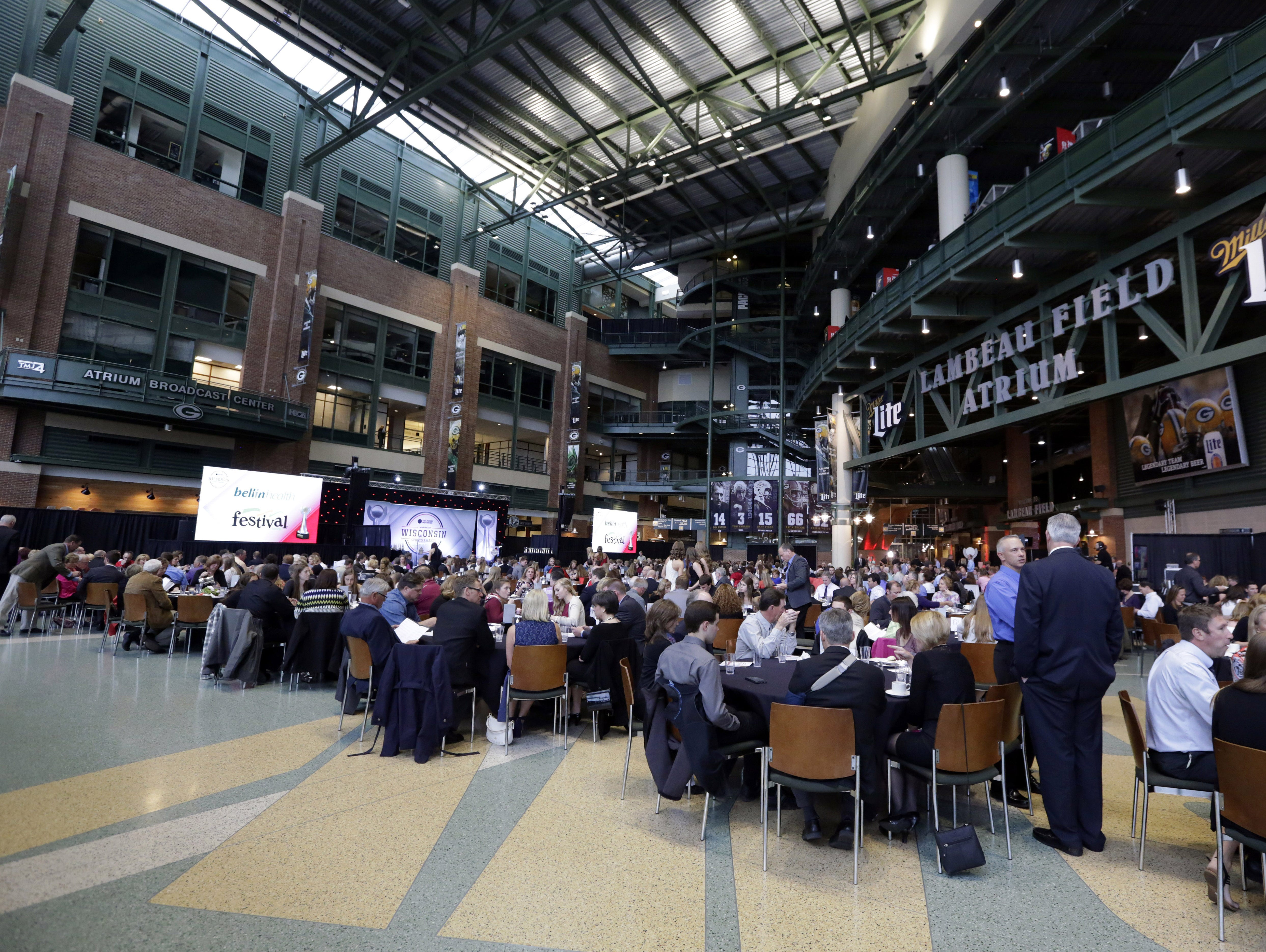 The Wisconsin High School Sports Awards show, which honors prep athletes in the USA TODAY NETWORK-Wisconsin markets, will once again take place at the Lambeau Field Atrium. This year's event will be held May 12.