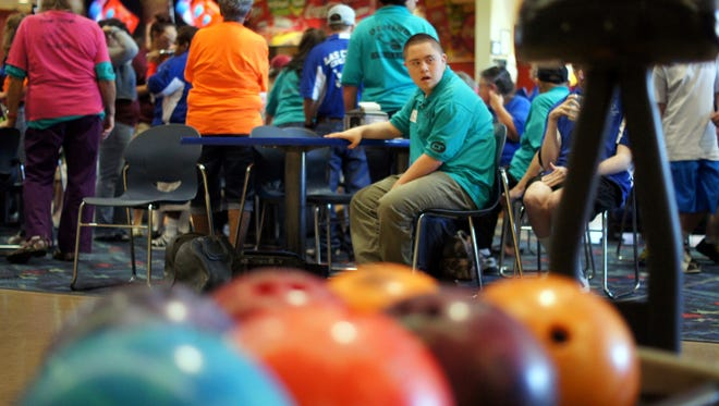 Deming Roadrunner Arthur Don Jasso waits his turn at the Starmax Bowling Lanes during a practice session