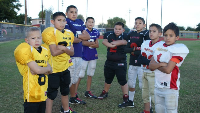 The Luna County Youth Football League will decide who gets the Super Bowl Championship trophies with three title games scheduled for Saturday at Deming High Memorial Stadium. Playing for title hopes will be Saints, James Coleman and A.J. Flores; Vikings, Aldo and Omar Argott; Falcons, Marcus Moreno and Cesar Ramirez; and Forty-Niners, Isaiah Pizarro and Ernest Pastran. Game times are at 2:15 p.m. between the Eagles and Ravens, 4:15 between the Saints and Forty-Niners, and 6 p.m. between the Falcons and the Vikings. Admission is free to the game.