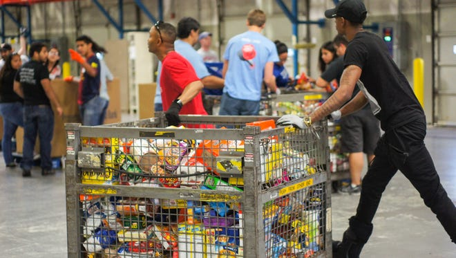 Last year's Stamp Out Hunger effort collected 100,000 pounds of food.