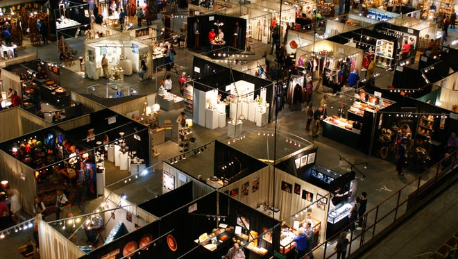 A shot above the lower level of The Craft Fair of the Southern Highlands, open Oct. 20-23.