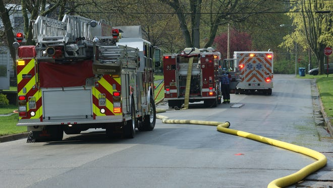 The Fremont Fire Department responded to a fire in a home in the 600 block of Rice Street on Thursday morning.