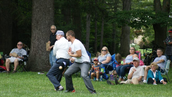 Spiegel Grove at the Rutherford B. Hayes Presidential Library and Museums is the home site for the vintage base ball team the Spiegel Grove Squires.